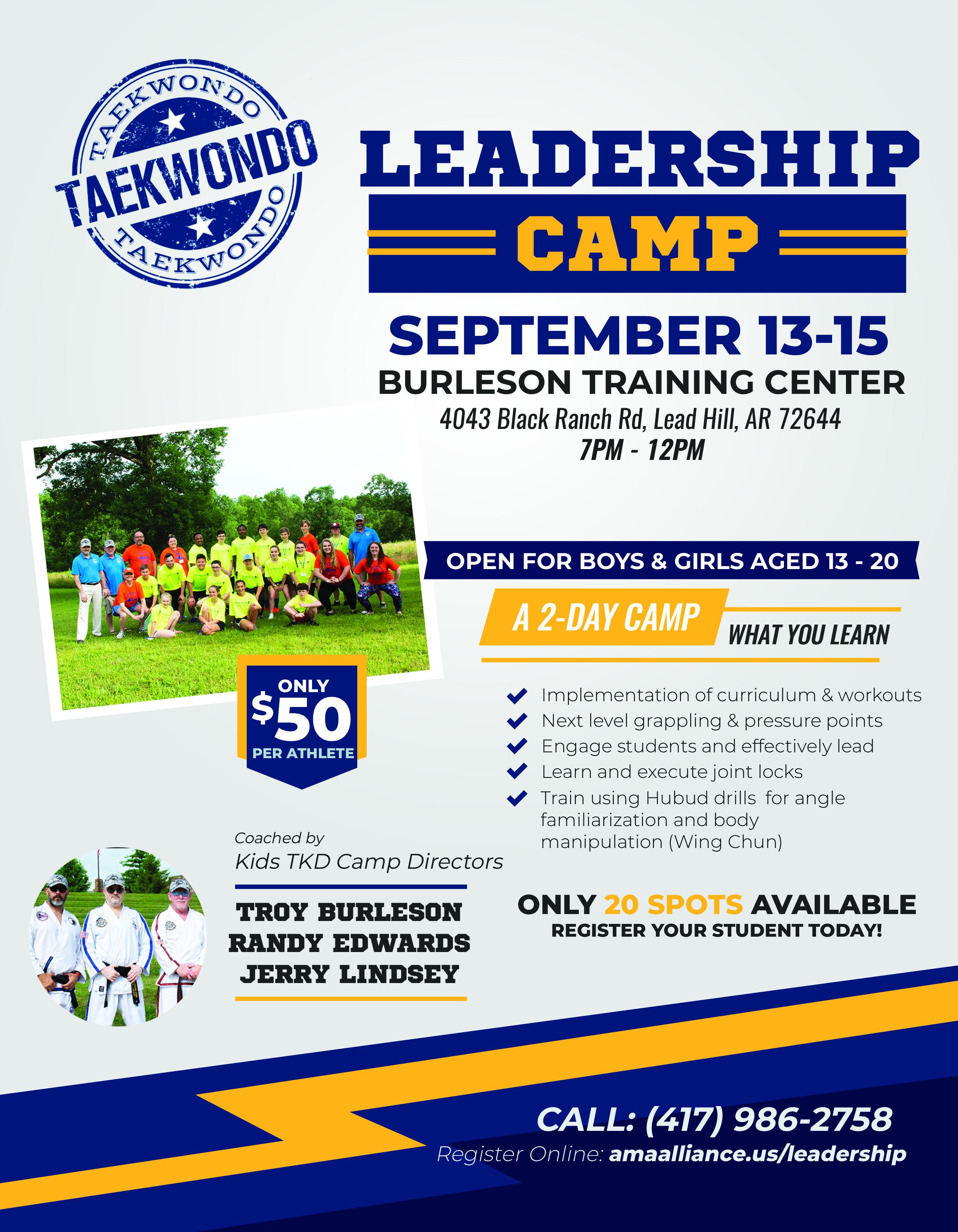 Taekwondo Leadership Camp