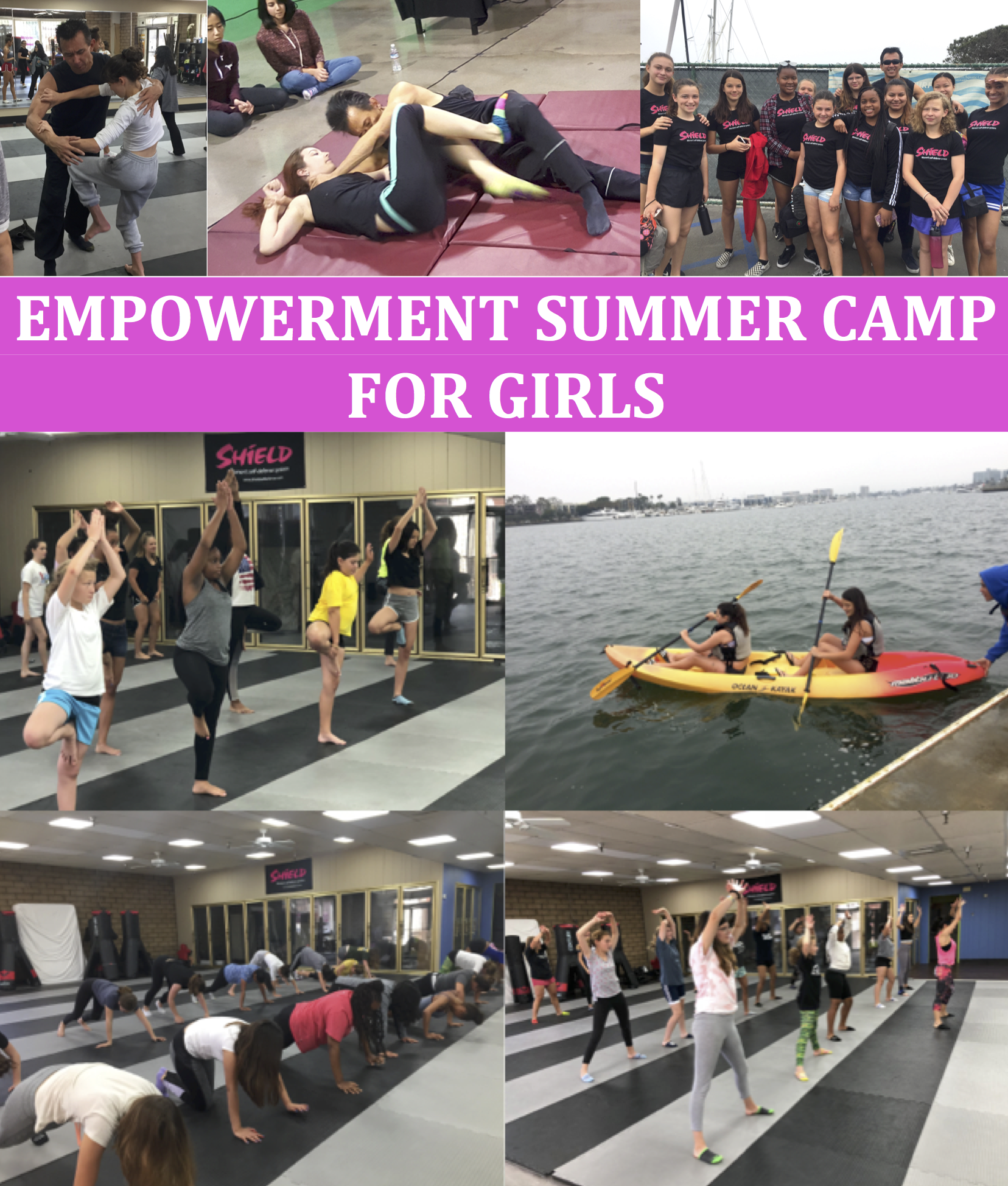 self defense classes for women and girls, summer camp
